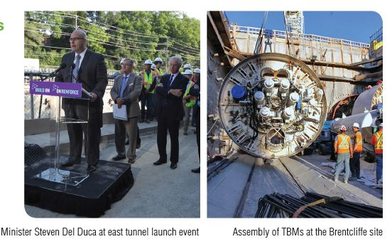 Launch of east TBMs