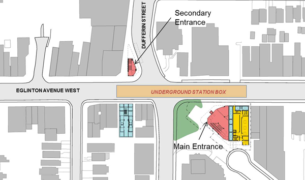 Dufferin Station: plan view