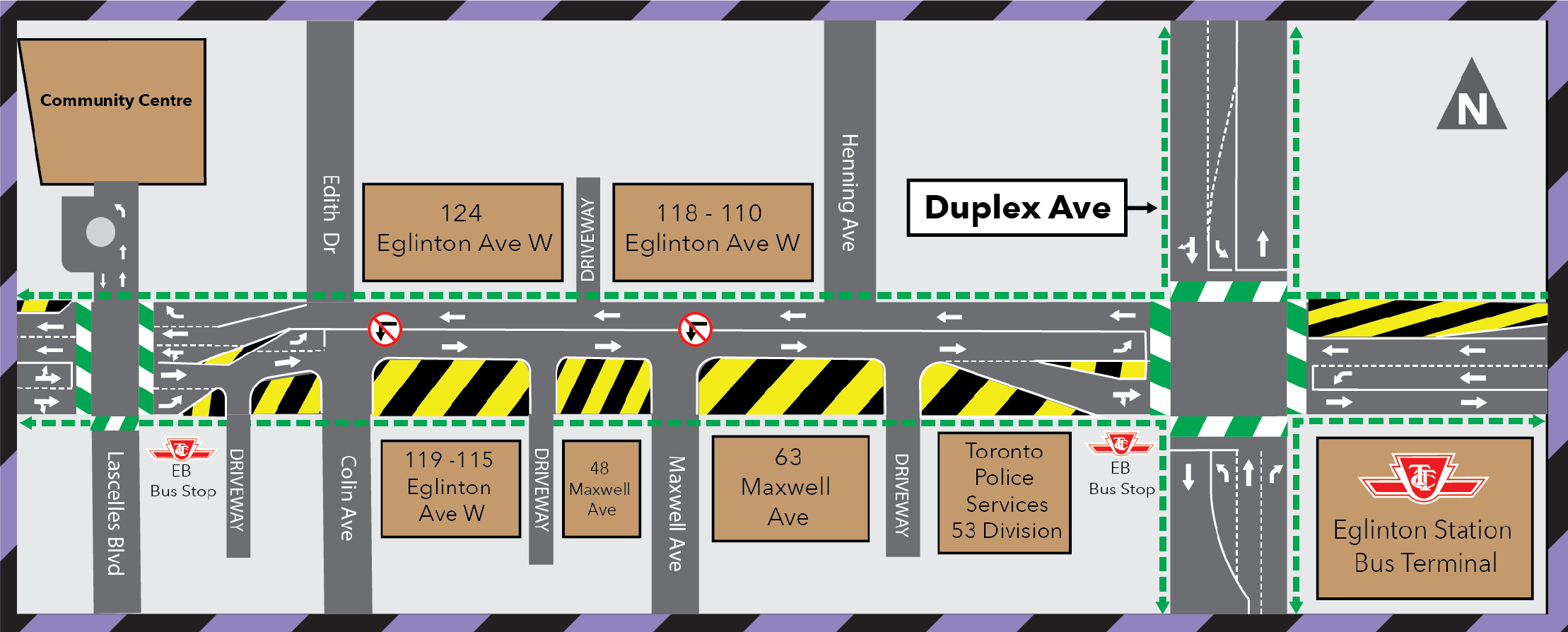 Update: Traffic Configuration Change Duplex Avenue to Lascelles Boulevard (Eglinton Connects) March 12, 2021