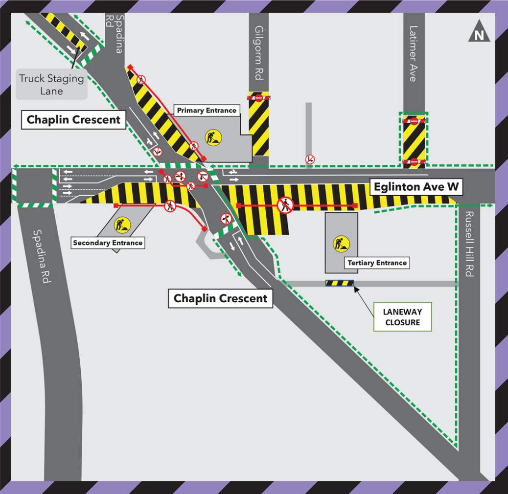 Laneway Closure at Chaplin Station - Nov 23, 2020