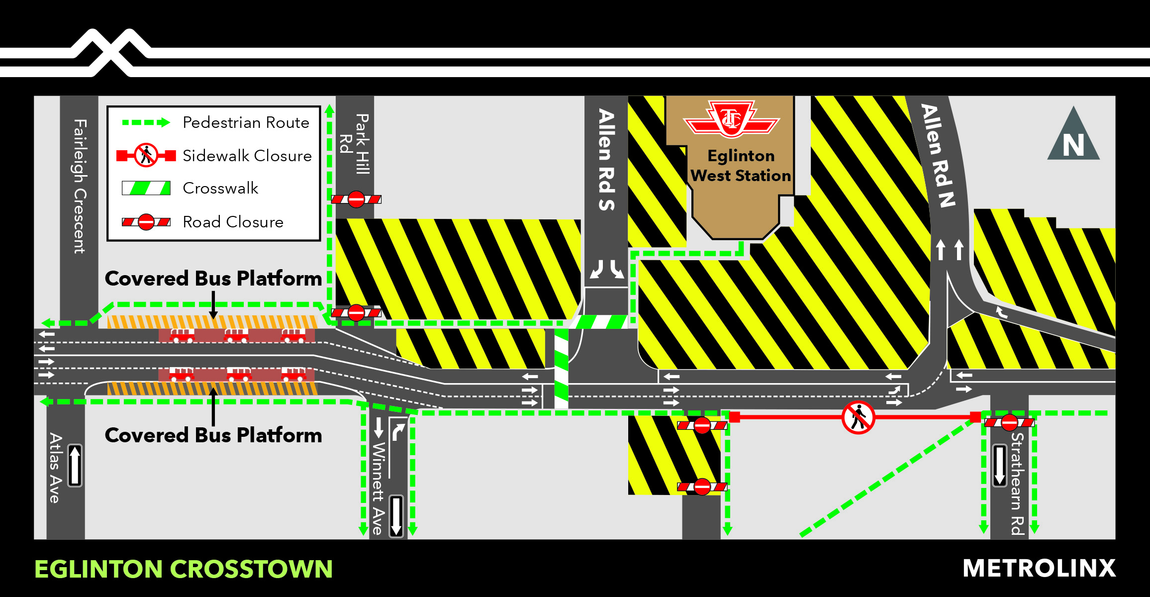 Eglinton West Station Bus Loop Closure: Late March 2020 to Late Summer 2020