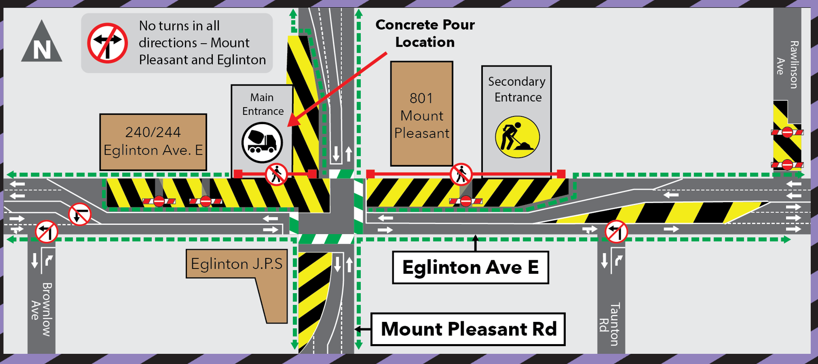 Traffic Configuration Mount Pleasant and Eglinton December 30 2020