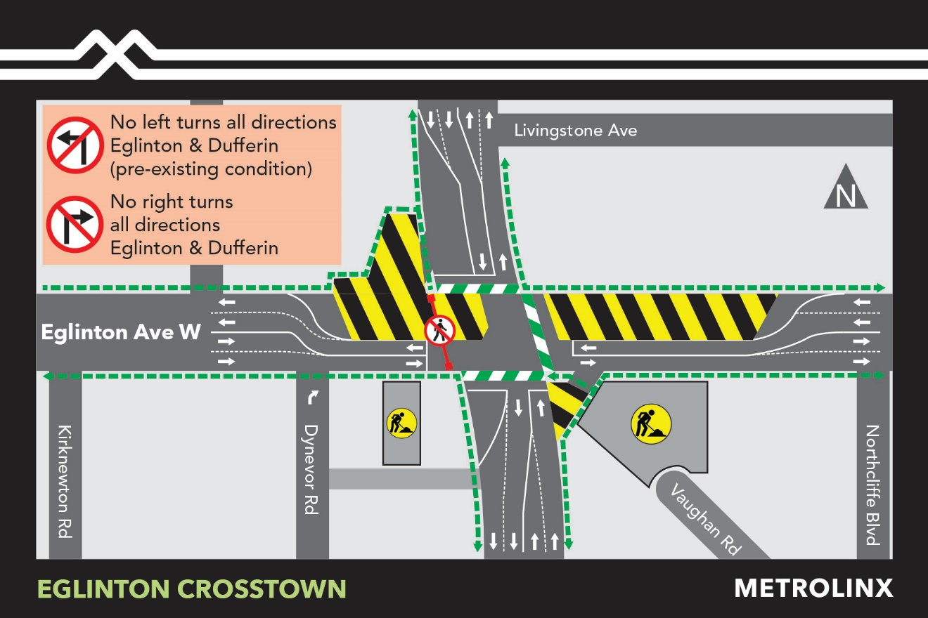 idewalk Diversion at Fairbank Station October 29 – November 1, 2019