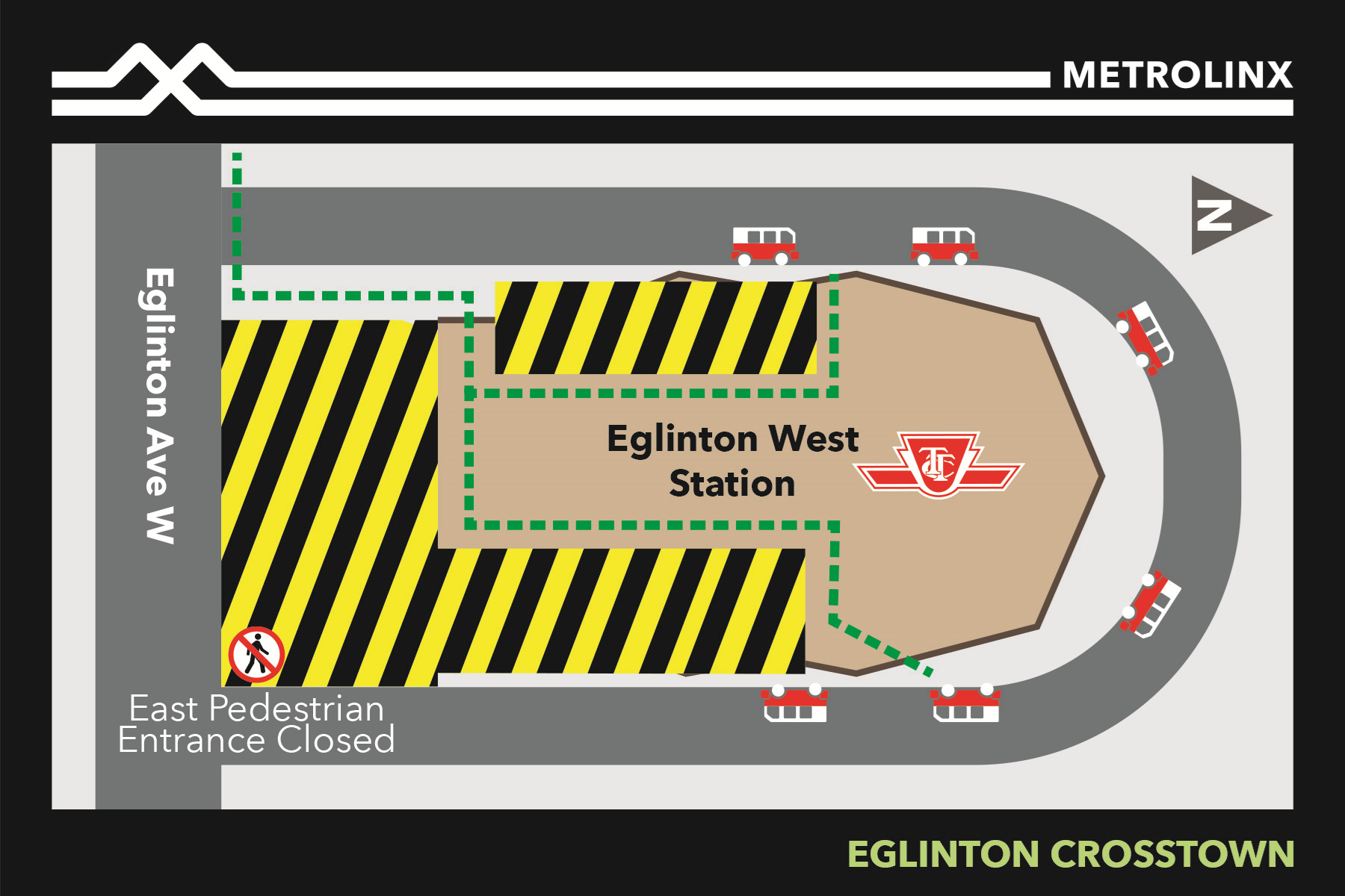 Underpinning Works at Eglinton West Subway Station (Cedarvale) Starting October 2019