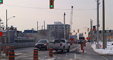 Traffic impact caused by construction along Eglinton Avenue