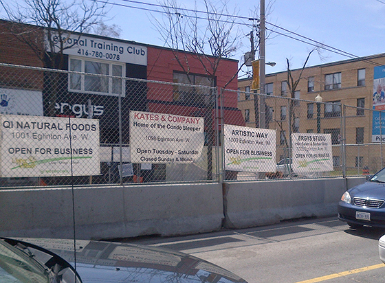 Businesses impacted by construction on Eglinton Avenue