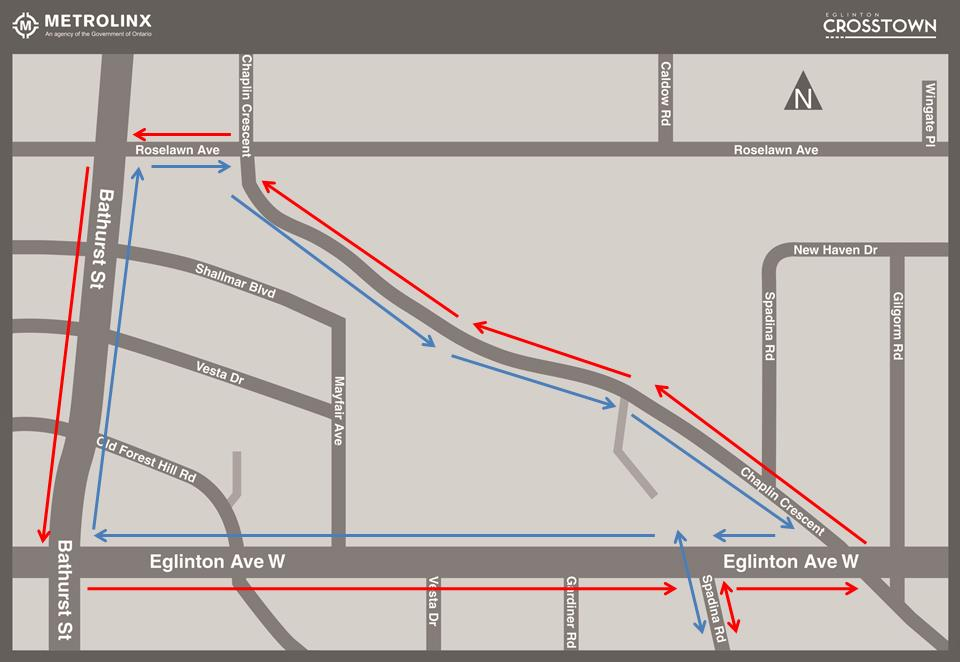TTC route 33 re-routing