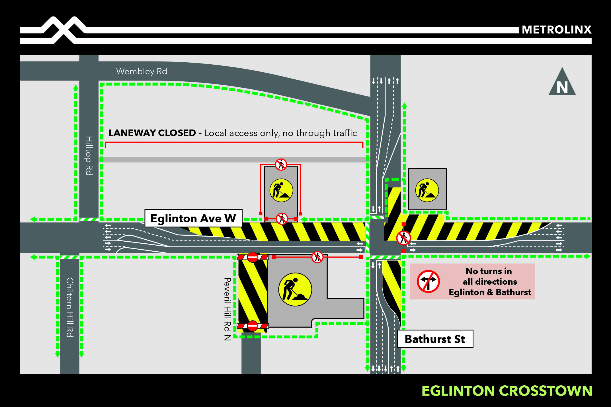 Laneway Closure for Concrete Pour at Forest Hill Station - June 8 2020
