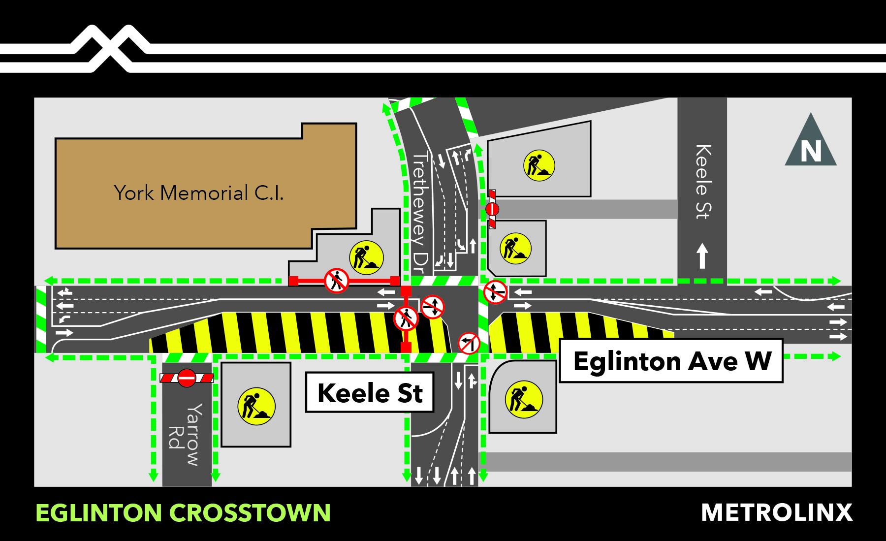 Traffic Change at Keelesdale Station July 14, 2020