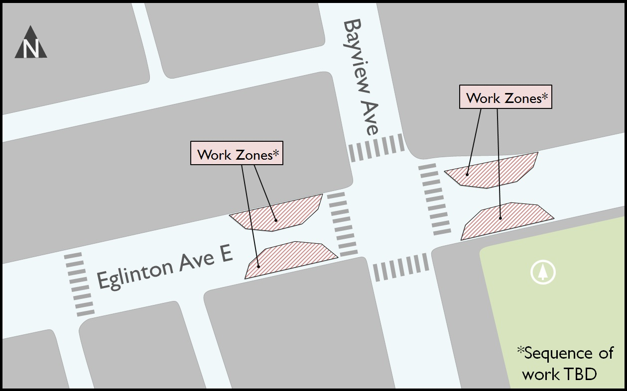 Map - Bayview work zone Aug 2015