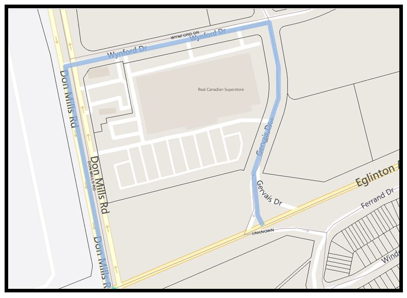 Map Wynford Dr gas relocation Feb 2015