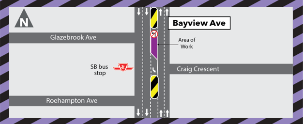 Notice of Utility Works at Bayview and Glazebrook Avenues