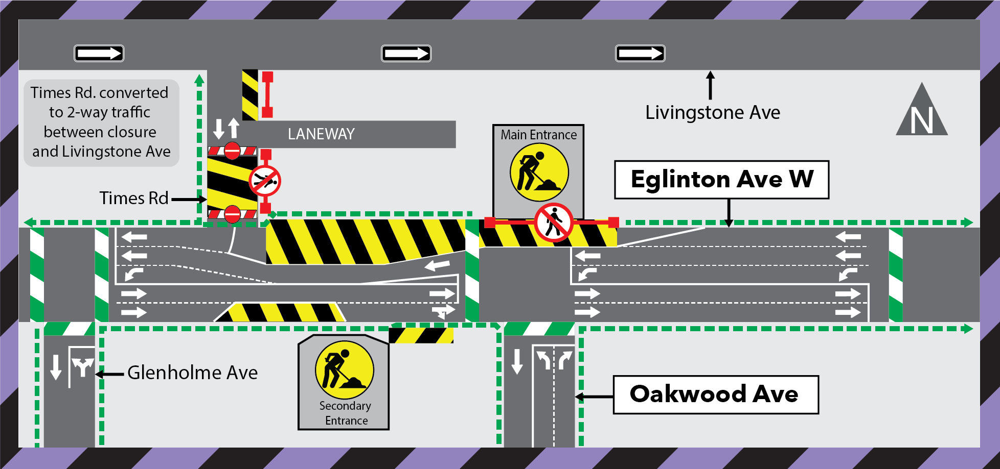 Update: 24-hour Construction at Oakwood Station March 2021