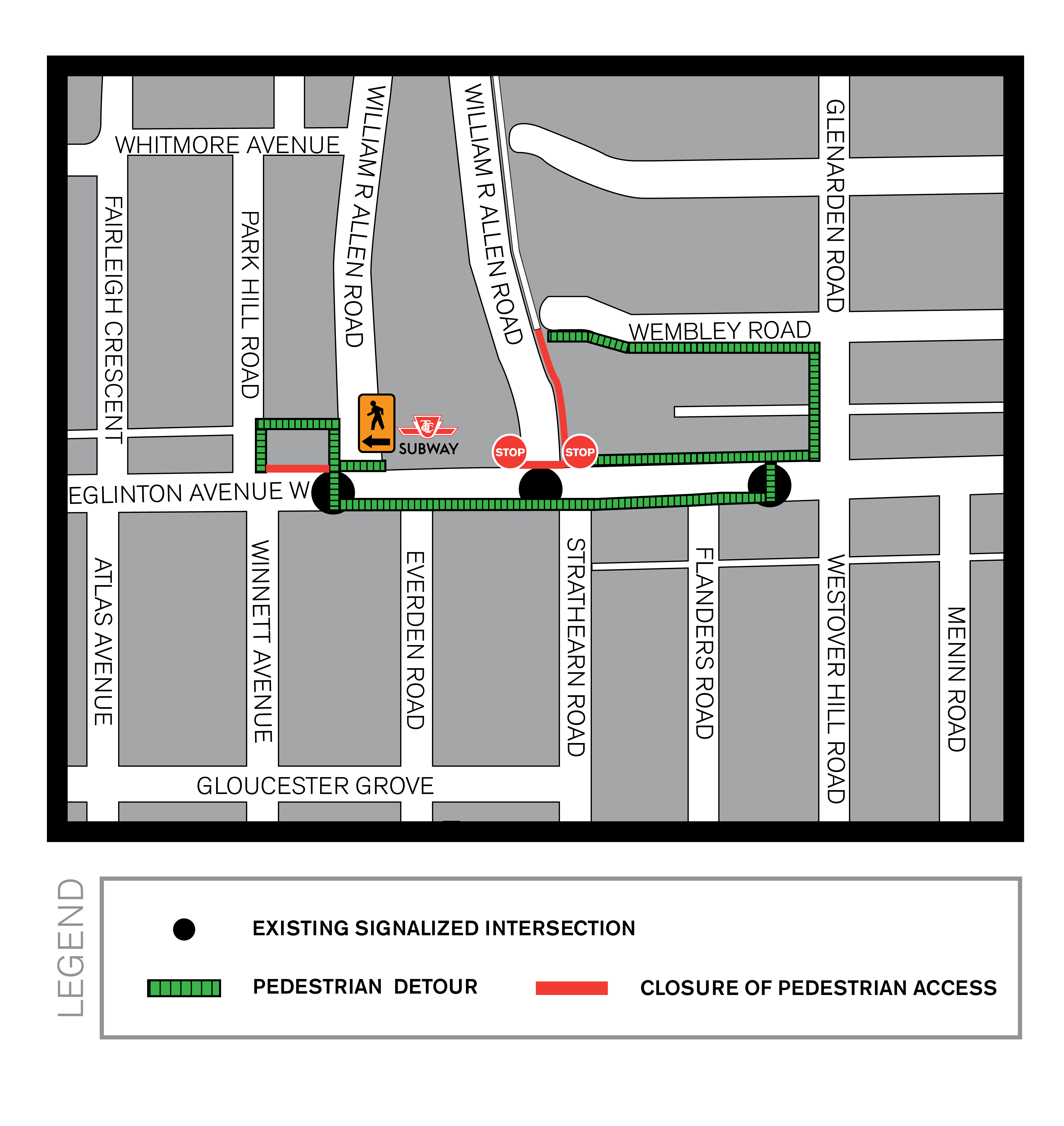 Pedestrian map Allen Road Sept 2014
