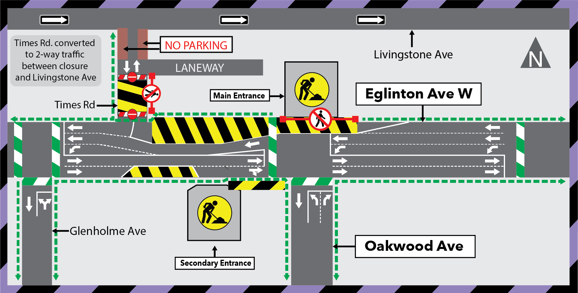 Update: Extension of the Times Road Closure at Eglinton Avenue West