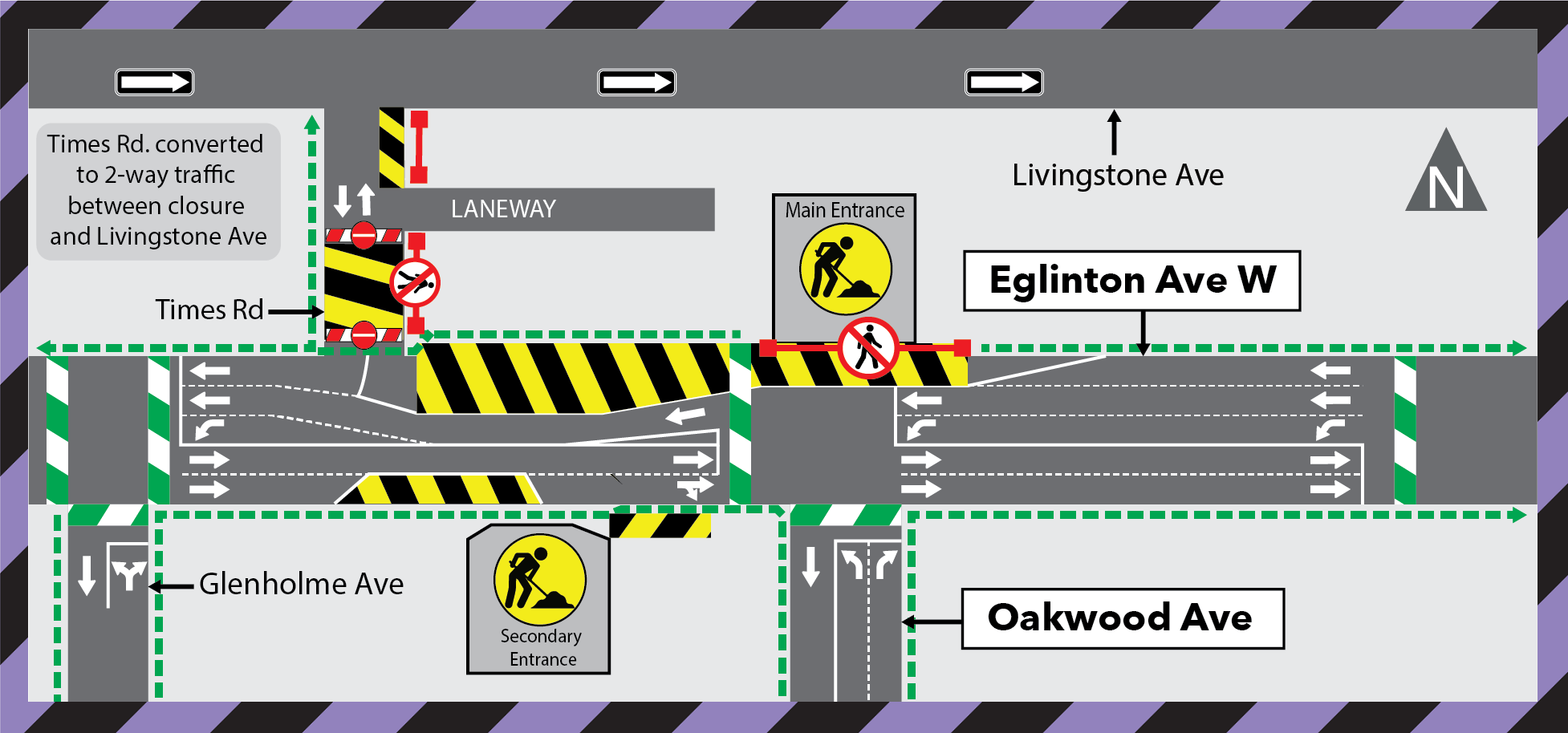 Update: Extension of the Times Road Closure at Eglinton Avenue West - Early 2021