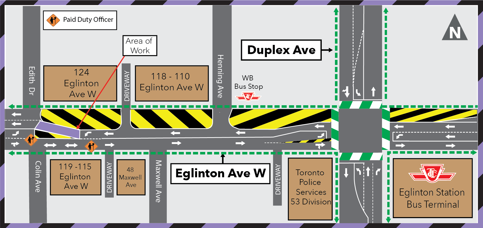 Upcoming Utility Work at Edith Drive and Eglinton Avenue West - Aug 22