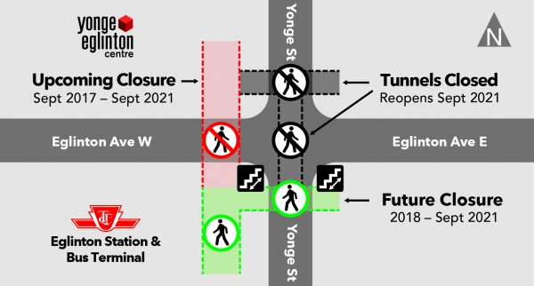 Tunnel Closures Map